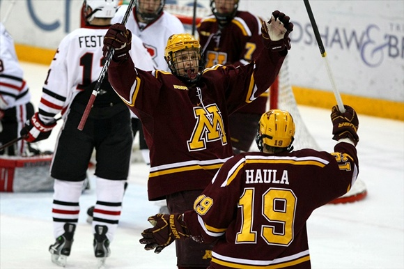 Nick Bjugstad and Erik Haula - University of Minnesota