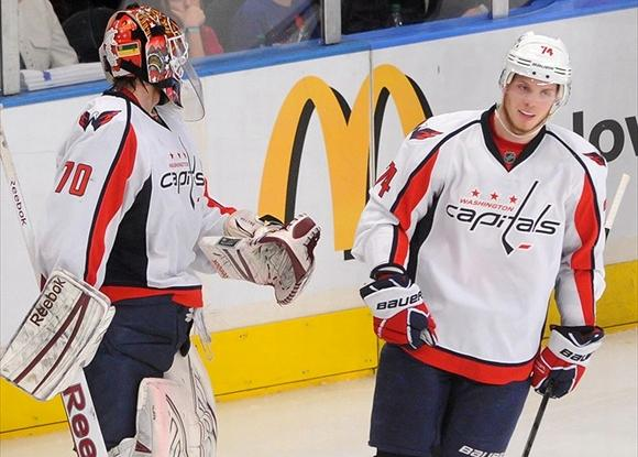 Braden Holtby and John Carlson - Washington Capitals