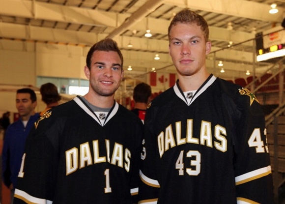 Jack Campbell (left) and Jamie Oleksiak - Dallas Stars