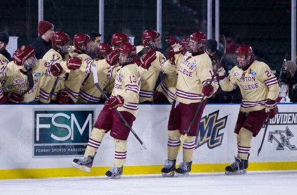 John Gaudreau, Kevin Hayes, and Bill Arnold - Boston College