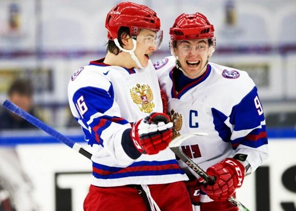 Nikita Zadorov and Anton Slepyshev - Team Russia