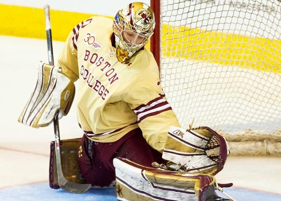 thatcher demko boston college 032914 With the 36th overall pick, the Canucks go with a ... Cory Schneider? Not quite, but close