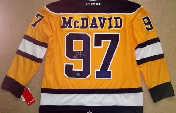 Enter for a chance to win an autographed Connor McDavid jersey!