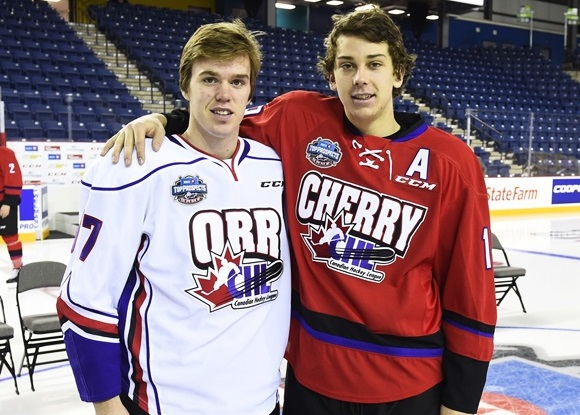 Connor McDavid and Dylan Strome - Erie Otters - 2015 BMO CHL/NHL Top Prospects Game