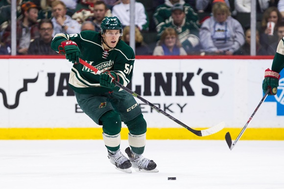 Photo: Minnesota's Erik Haula has struggled to outperform in a tough-minutes role (courtesy of Brad Rempel/Icon Sportswire)
