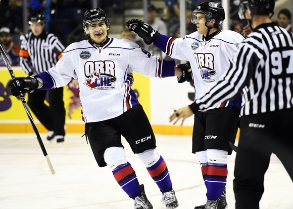 Timo Meier, Travis Konecny - Team Orr - 2015 BMO CHL/NHL Top Prospects Game