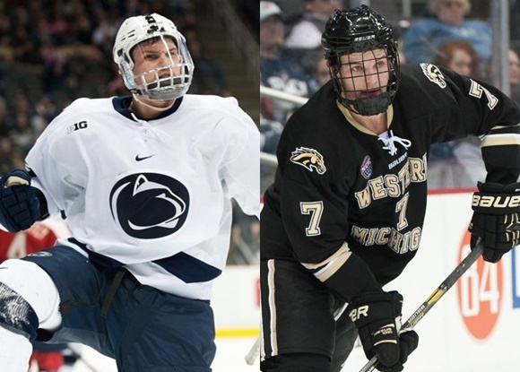 Casey Bailey - Penn State University; Kenney Morrison - Western Michigan University - NCAA Hockey