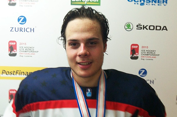 (Video) 2015 U18 World Championship: Auston Matthews, Forward, and Evan Sarthou, Goaltender, USA