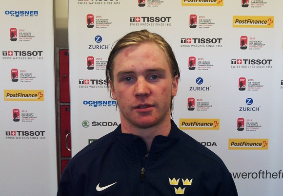 Sebastian Ohlsson - Team Sweden - 2015 IIHF Ice Hockey U18 World Championship