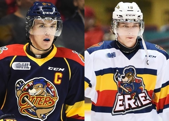 Connor McDavid and Dylan Strome - Erie Otters
