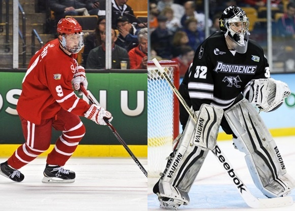 Jack Eichel - Boston University; Jon Gillies - Providence College - 2015 Frozen Four Championship
