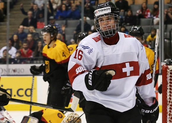 Denis Malgin - Team Switzerland - 2015 IIHF World Junior Championship