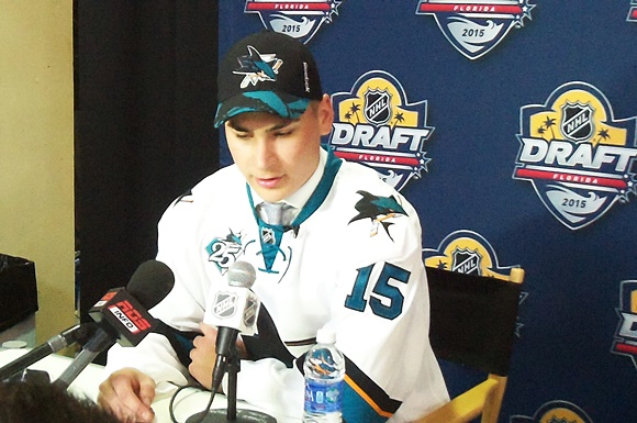 [2015 NHL Draft] First Round, Ninth Overall: San Jose Sharks add more Swiss to the mix with Timo Meier