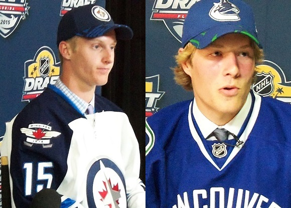 Kyle Connor - Winnipeg Jets; Brock Boeser - Vancouver Canucks - 2015 NHL Draft