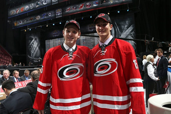 Callum Booth and Nicolas Roy - Carolina Hurricanes - 2015 NHL Draft