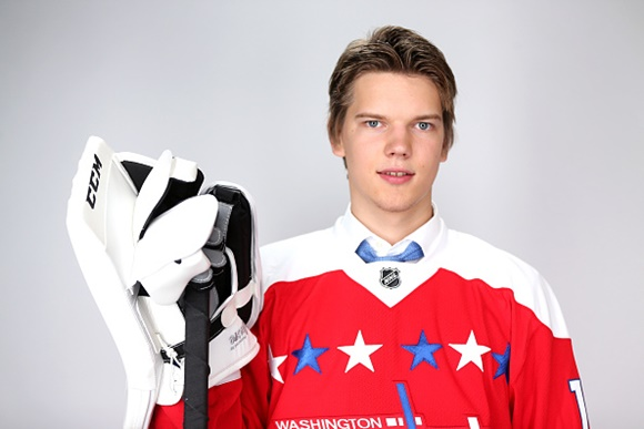 Photo: Ilya Samsonov was the top-ranked goaltender in the 2015 NHL Draft. (Courtesy of Mike Ehrmann/Getty Images)