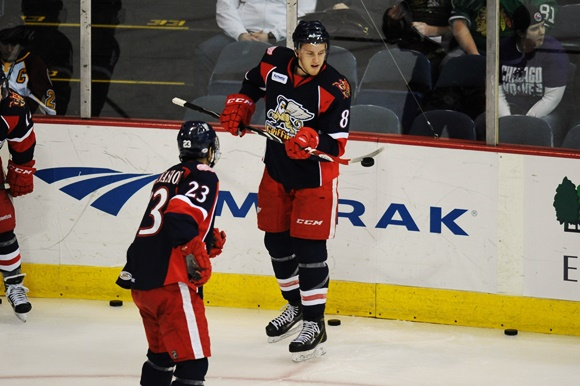 Anthony Mantha and Andreas Athanasiou - Grand Rapids Griffins