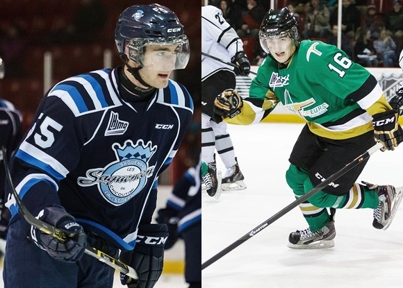 Nicolas Roy - Chicoutimi Sagueneens; Nicholas Aube-Kubel - Val d'Or Foreurs - Prospect Faceoff 9/30