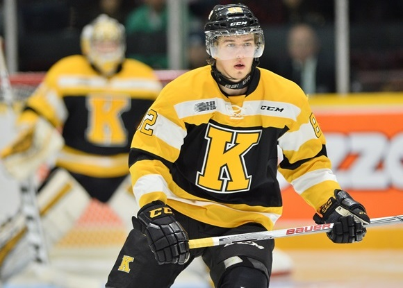 Photo: Juho Lammikko is back wearing a Kingston Frontenacs jersey again this season, and has 23 points (8 goals, 15 assists) in 26 games. (Courtesy of Terry Wilson/OHL Images)