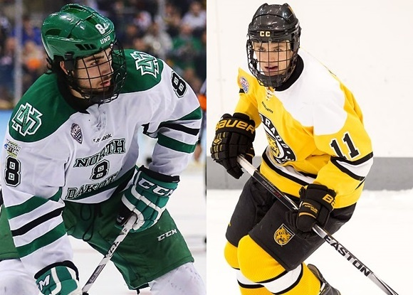 Prospect Faceoff: USA WJC teammates clash, NCHC showdown, more from the AHL, QMJHL, and WHL