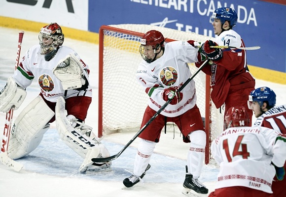 Ivan Kulbakov and Ilya Sushko - Team Belarus - 2016 IIHF World Junior Championship