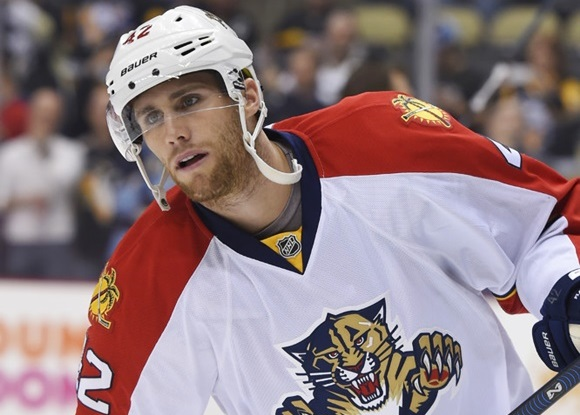 Photo: After moving up and down between the NHL and the minors since 2012, Quinton Howden has finally stuck with the Florida Panthers, scoring ten points in 45 games during 2015-16. (Courtesy of Jeanine Leech/Icon Sportswire)