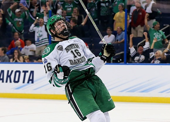 Brock Boeser - University of North Dakota - 2016 NCAA Frozen Four