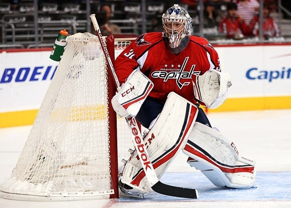 Photo: With Philipp Grubauer finished the season with a 2.32 goals-against and .918 save percentage. (Courtesy of Patrick Smith/Getty Images)