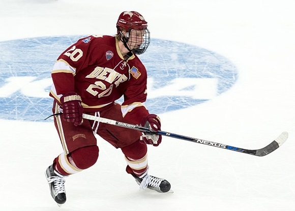 Danton Heinen - University of Denver - 2016 NCAA Division I Men's Hockey Championships