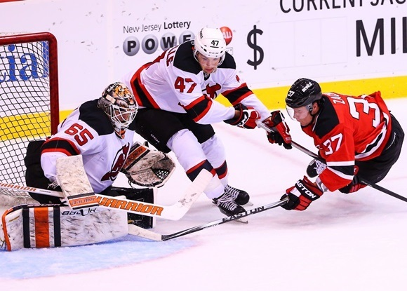 John Quenneville and Pavel Zacha - New Jersey Devils