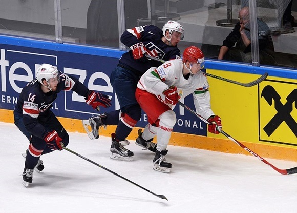 Tyler Motte (L) and Kyle Connor (R) - Team USA - 2016 IIHF World Championship