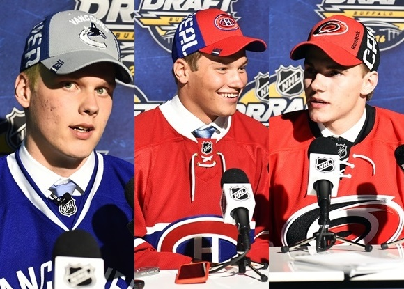 2016 NHL Draft - Olli Juolevi (L), Mikhail Sergachev (C), and Jake Bean (R) - Top 3 Defensemen