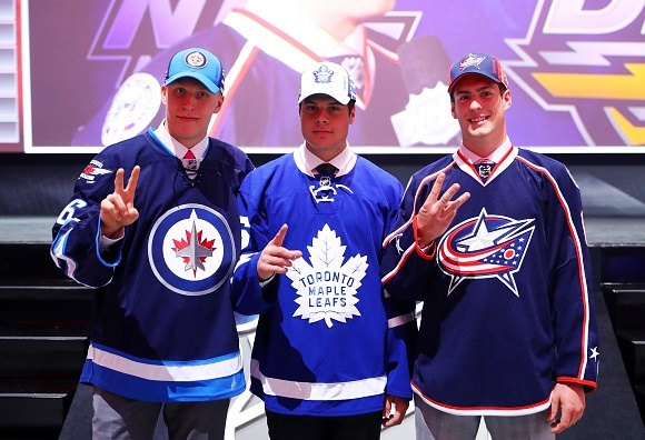 2016 NHL Draft - Patrik Laine (WPG), Auston Matthews (TOR), and Pierre-Luc Dubois (CBJ) - Top 3 Selections